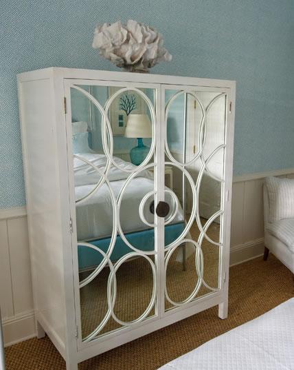 white and mirror dresser