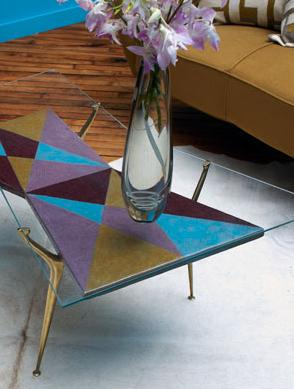 modern retro artistic living room coffee table
