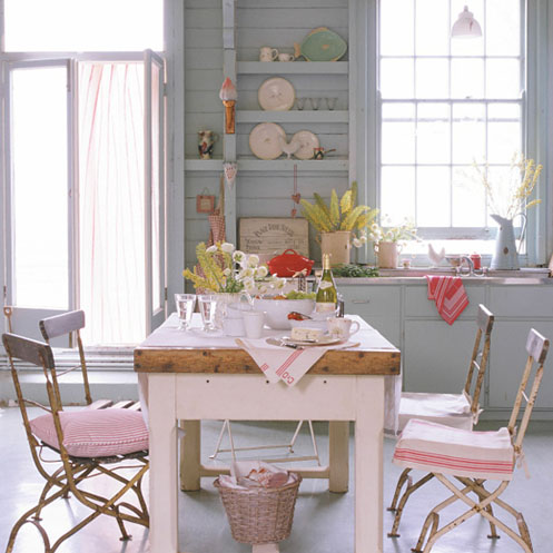 light blue and pink coastal beCHY living room