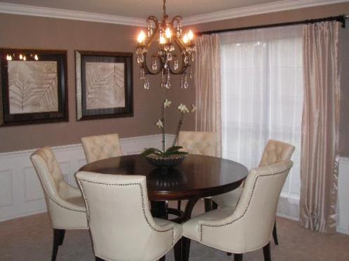 posh classic dining room tan greige white