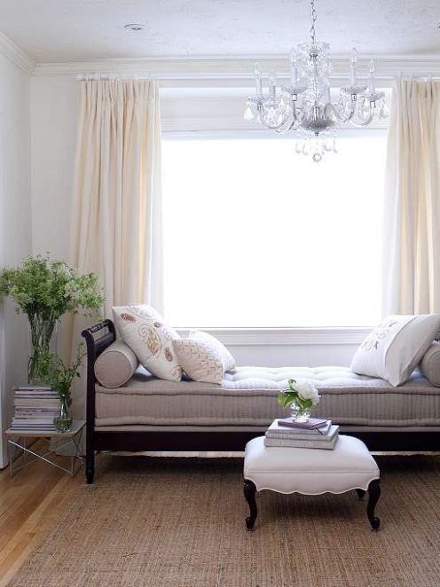 daybed chandelier light room