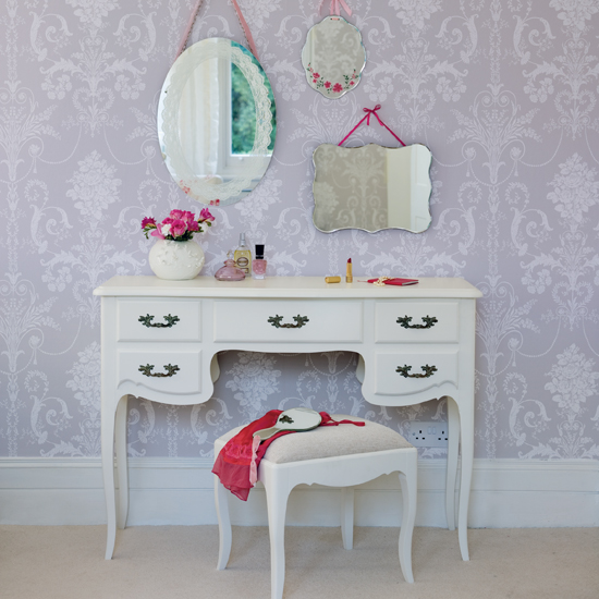 pastel bedroom vanity table