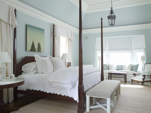 white abd baby blue bedroom