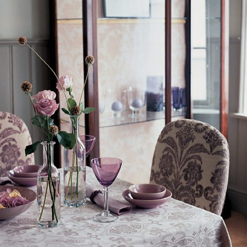 modern lilac dining room