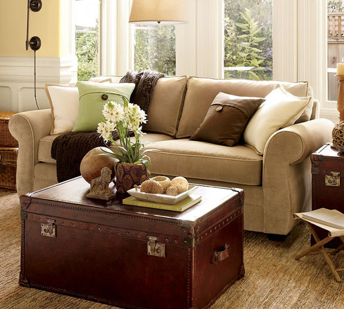 brown beige green living room