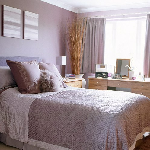 modern lilac bedroom