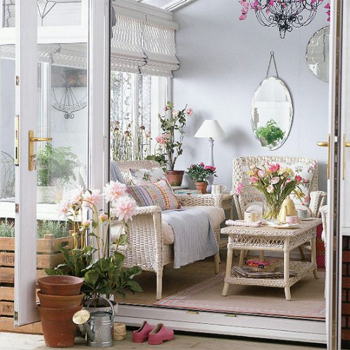 romantic country style conservatory