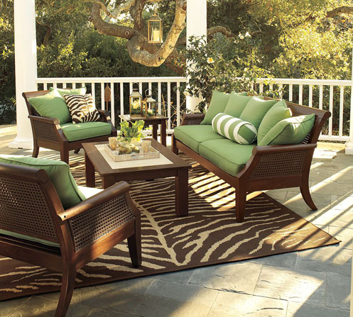 green brown exotic tropical style patio furniture