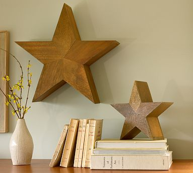 star wall decor for coastal home