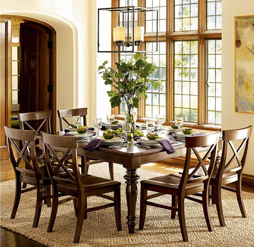 brown green dining room