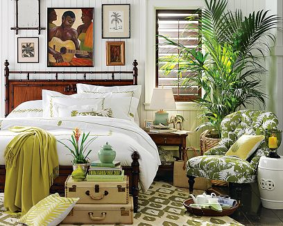 white green brown bedroom
