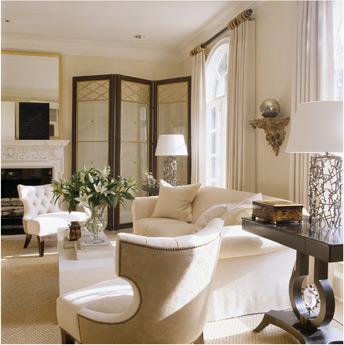 cream white posh living room