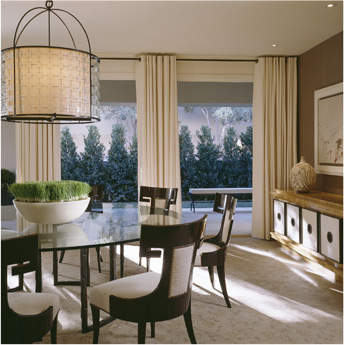 black and cream posh dining room