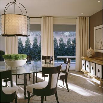 black and cream posh dining room