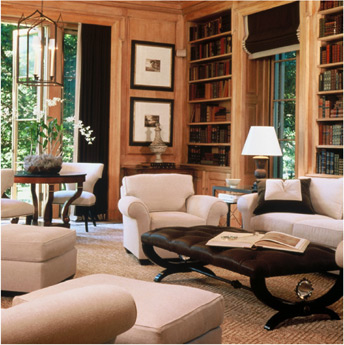 cream and black posh living room