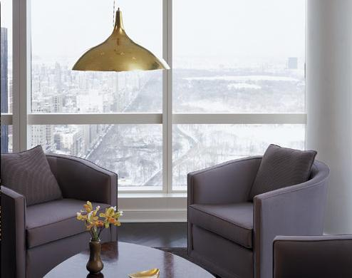 modern grey and gold living room
