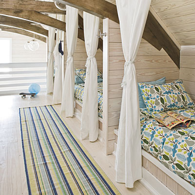 loft converted to kids bunks