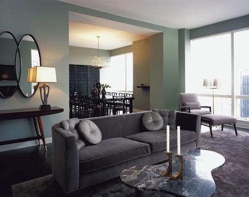 grey modern living room