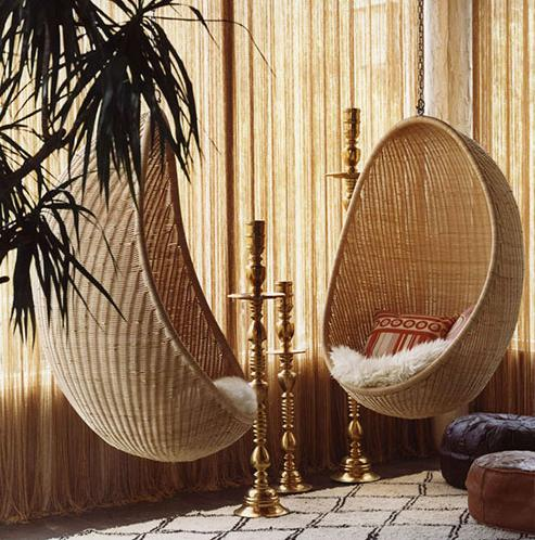 wicker rattan hanging chairs retro living room