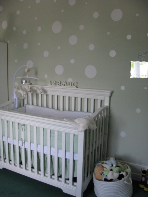 grey and white baby nursery