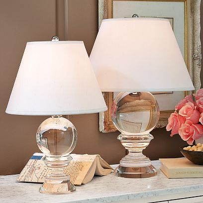 glass crystal ball posh table lamp