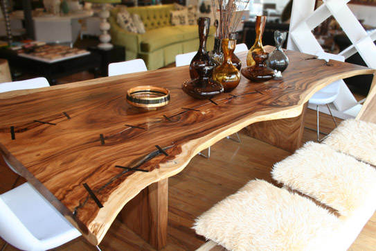 Exellent home design natural wooden dining room table - Table salle a manger rustique ...