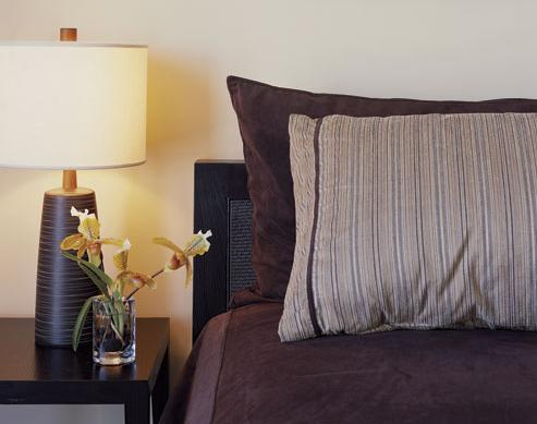 modern cream and brown bedroom