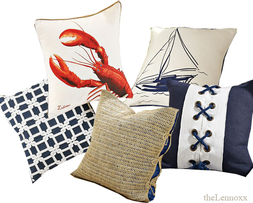 nautical style cuhions pillows