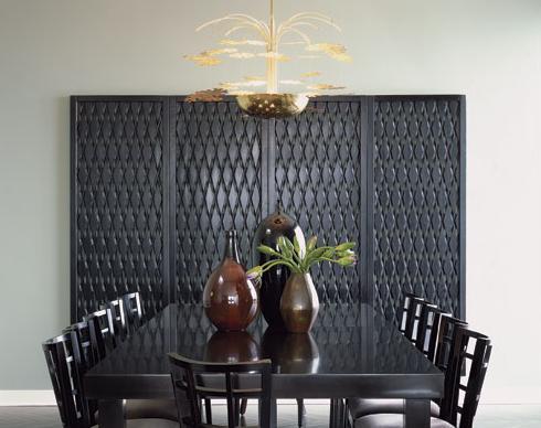 modern black and white retro dining room