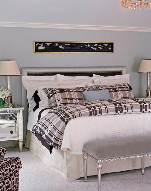 white blue purple bedroom