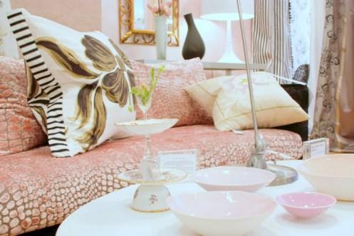 powder pink interior