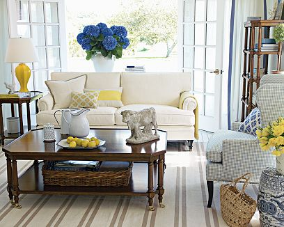 white blue and yellow living room white sofa