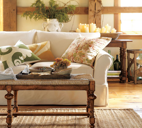 white yellow green cozy living room