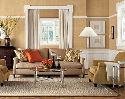 coastal beach style living room beige and coral red