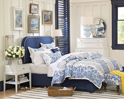 navy blue and white bedrooms images